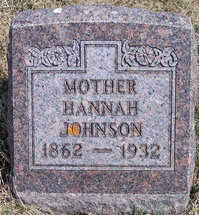 JOHNSON, HANNAH - Kingsbury County, South Dakota | HANNAH JOHNSON - South Dakota Gravestone Photos