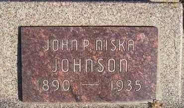 JOHNSON, JOHN P NISKA - Kingsbury County, South Dakota | JOHN P NISKA JOHNSON - South Dakota Gravestone Photos