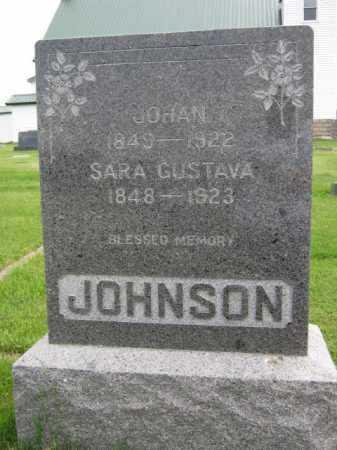 JOHNSON, SARA GUSTAVA - Kingsbury County, South Dakota | SARA GUSTAVA JOHNSON - South Dakota Gravestone Photos