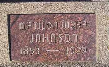 JOHNSON, MATILDA NISKA - Kingsbury County, South Dakota | MATILDA NISKA JOHNSON - South Dakota Gravestone Photos