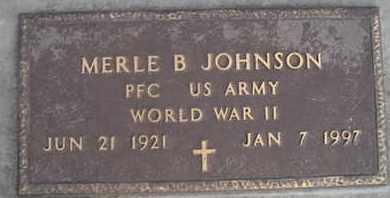 JOHNSON, MERLE B (MIL) - Kingsbury County, South Dakota | MERLE B (MIL) JOHNSON - South Dakota Gravestone Photos