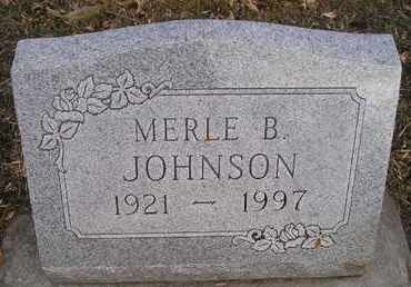 JOHNSON, MERLE B - Kingsbury County, South Dakota | MERLE B JOHNSON - South Dakota Gravestone Photos