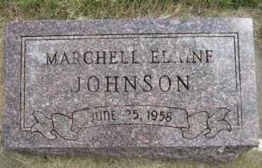 JOHNSON, MARCHELL ELAINE - Kingsbury County, South Dakota | MARCHELL ELAINE JOHNSON - South Dakota Gravestone Photos