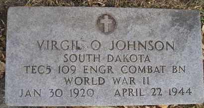 JOHNSON, VIRGIL O - Kingsbury County, South Dakota | VIRGIL O JOHNSON - South Dakota Gravestone Photos