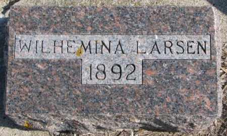 LARSEN, WILHEMINA - Kingsbury County, South Dakota | WILHEMINA LARSEN - South Dakota Gravestone Photos