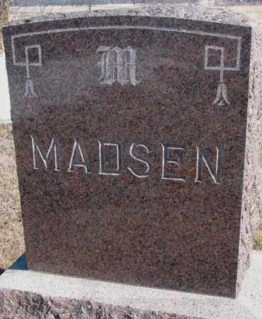 MADSEN, PLOT MARKER - Kingsbury County, South Dakota | PLOT MARKER MADSEN - South Dakota Gravestone Photos