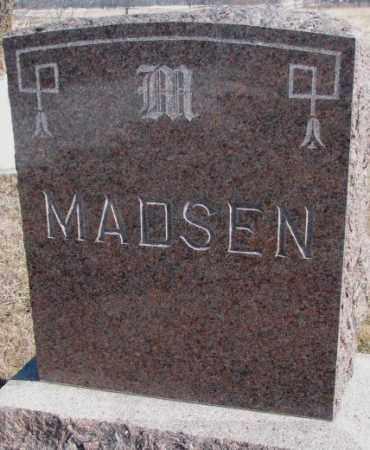 MADSEN, PLOT MARKER - Kingsbury County, South Dakota | PLOT MARKER MADSEN - South Dakota Gravestone Photos