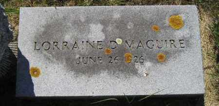 MAGUIRE, LORRAINE D. - Kingsbury County, South Dakota | LORRAINE D. MAGUIRE - South Dakota Gravestone Photos