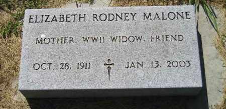 MALONE, ELIZABETH RODNEY - Kingsbury County, South Dakota | ELIZABETH RODNEY MALONE - South Dakota Gravestone Photos