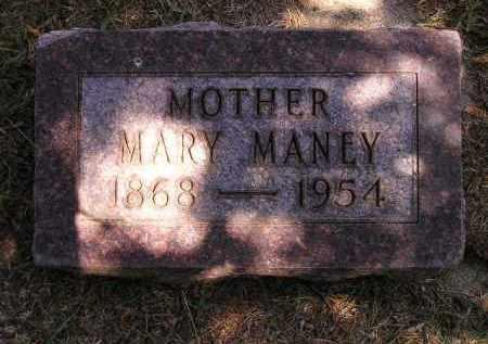 MANEY, MARY - Kingsbury County, South Dakota   MARY MANEY - South Dakota Gravestone Photos