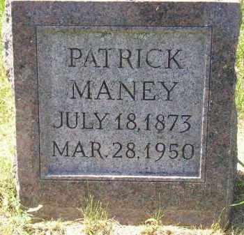MANEY, PATRICK - Kingsbury County, South Dakota   PATRICK MANEY - South Dakota Gravestone Photos