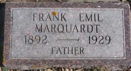 MARQUARDT, FRANK EMIL - Kingsbury County, South Dakota   FRANK EMIL MARQUARDT - South Dakota Gravestone Photos