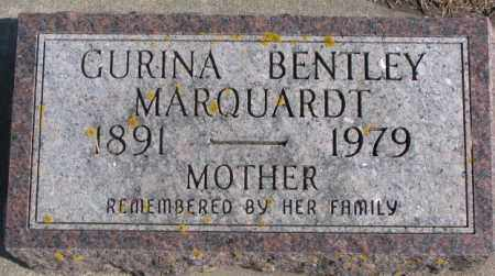 BENTLEY MARQUARDT, GURINA - Kingsbury County, South Dakota | GURINA BENTLEY MARQUARDT - South Dakota Gravestone Photos