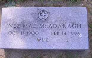 MCADARAGH, INEZ MAE - Kingsbury County, South Dakota | INEZ MAE MCADARAGH - South Dakota Gravestone Photos