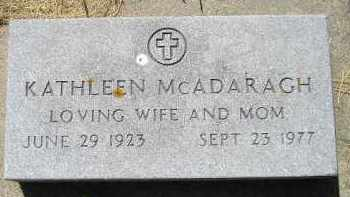 MCADARAGH, KATHLEEN - Kingsbury County, South Dakota | KATHLEEN MCADARAGH - South Dakota Gravestone Photos