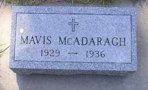 MCADARAGH, MAVIS - Kingsbury County, South Dakota | MAVIS MCADARAGH - South Dakota Gravestone Photos