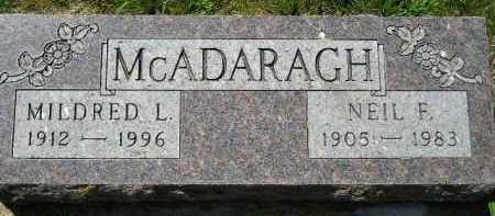 MCADARAGH, MILDRED L. - Kingsbury County, South Dakota | MILDRED L. MCADARAGH - South Dakota Gravestone Photos