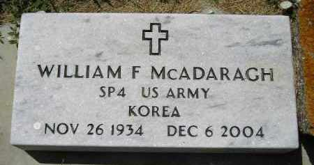 MCADARAGH, WILLIAM F. - Kingsbury County, South Dakota   WILLIAM F. MCADARAGH - South Dakota Gravestone Photos