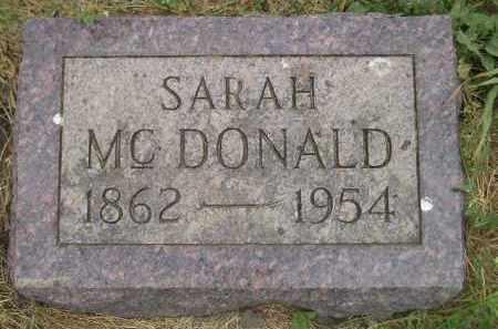 MCDONALD, SARAH - Kingsbury County, South Dakota | SARAH MCDONALD - South Dakota Gravestone Photos