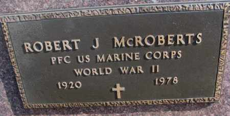 MCROBERTS, ROBERT J. (WW II) - Kingsbury County, South Dakota | ROBERT J. (WW II) MCROBERTS - South Dakota Gravestone Photos