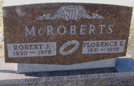 MCROBERTS, FLORENCE E. - Kingsbury County, South Dakota | FLORENCE E. MCROBERTS - South Dakota Gravestone Photos