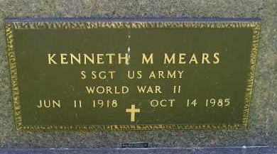 MEARS, KENNETH M. (WW II) - Kingsbury County, South Dakota   KENNETH M. (WW II) MEARS - South Dakota Gravestone Photos
