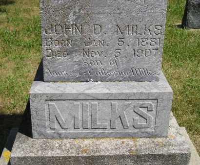MILKS, JOHN D. - Kingsbury County, South Dakota   JOHN D. MILKS - South Dakota Gravestone Photos