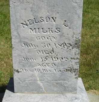 MILKS, NELSON L. - Kingsbury County, South Dakota | NELSON L. MILKS - South Dakota Gravestone Photos