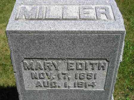 MILLER, MARY EDITH - Kingsbury County, South Dakota | MARY EDITH MILLER - South Dakota Gravestone Photos