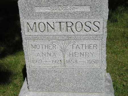 MONTROSS, HENRY - Kingsbury County, South Dakota | HENRY MONTROSS - South Dakota Gravestone Photos