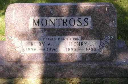 MONTROSS, RUBY A. - Kingsbury County, South Dakota | RUBY A. MONTROSS - South Dakota Gravestone Photos