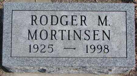 MORTINSEN, RODGER M. - Kingsbury County, South Dakota   RODGER M. MORTINSEN - South Dakota Gravestone Photos