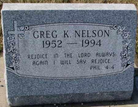 NELSON, GREG K. - Kingsbury County, South Dakota   GREG K. NELSON - South Dakota Gravestone Photos
