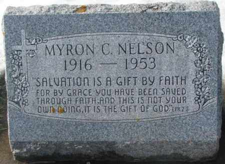 NELSON, MYRON C. - Kingsbury County, South Dakota   MYRON C. NELSON - South Dakota Gravestone Photos