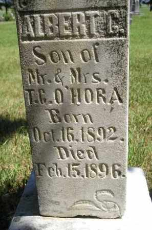 O'HORA, ALBERT G. - Kingsbury County, South Dakota | ALBERT G. O'HORA - South Dakota Gravestone Photos
