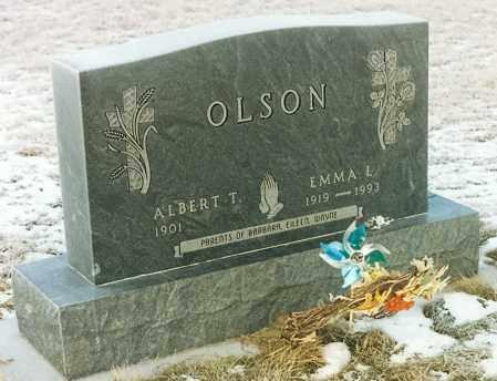 OLSON, EMMA LOUISE - Kingsbury County, South Dakota | EMMA LOUISE OLSON - South Dakota Gravestone Photos