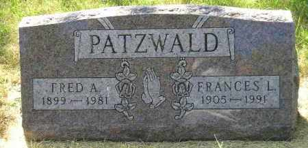 PATZWALD, FRANCES L. - Kingsbury County, South Dakota | FRANCES L. PATZWALD - South Dakota Gravestone Photos