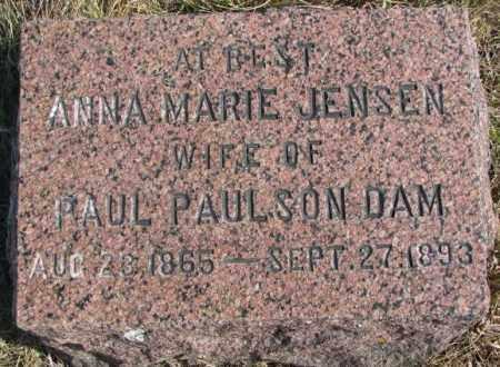 JENSEN PAULSON DAM, ANNA MARIE - Kingsbury County, South Dakota   ANNA MARIE JENSEN PAULSON DAM - South Dakota Gravestone Photos