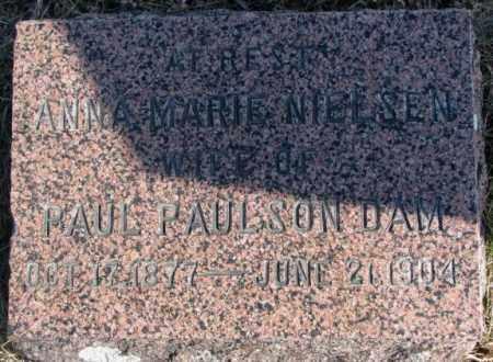 NIELSEN PAULSON DAM, ANNA MARIE - Kingsbury County, South Dakota   ANNA MARIE NIELSEN PAULSON DAM - South Dakota Gravestone Photos