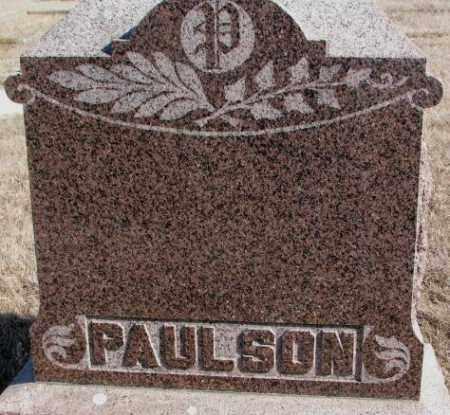 PAULSON, PLOT - Kingsbury County, South Dakota   PLOT PAULSON - South Dakota Gravestone Photos