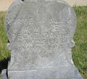 PECKENPAUGH, MARY E. - Kingsbury County, South Dakota   MARY E. PECKENPAUGH - South Dakota Gravestone Photos