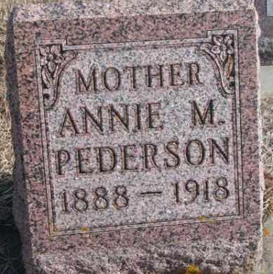 PEDERSON, ANNIE M. - Kingsbury County, South Dakota | ANNIE M. PEDERSON - South Dakota Gravestone Photos