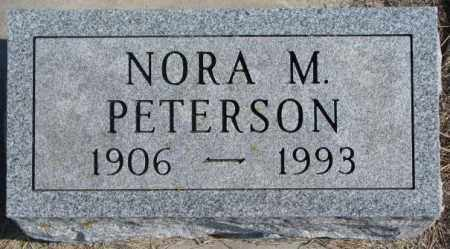 PETERSON, NORA M. - Kingsbury County, South Dakota   NORA M. PETERSON - South Dakota Gravestone Photos