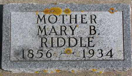 RIDDLE, MARY B. - Kingsbury County, South Dakota | MARY B. RIDDLE - South Dakota Gravestone Photos