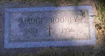 RODNEY, MADGE - Kingsbury County, South Dakota | MADGE RODNEY - South Dakota Gravestone Photos