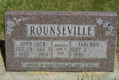 "ROUNSEVILLE, JOHN ""JACK"" - Kingsbury County, South Dakota 
