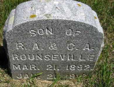 ROUNSEVILLE, RAY - Kingsbury County, South Dakota   RAY ROUNSEVILLE - South Dakota Gravestone Photos