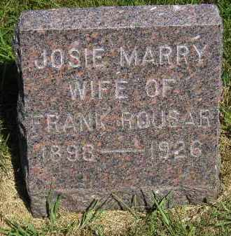 ROUSAR, JOSIE MARRY - Kingsbury County, South Dakota | JOSIE MARRY ROUSAR - South Dakota Gravestone Photos