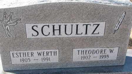 WERTH SCHULTZ, ESTHER - Kingsbury County, South Dakota | ESTHER WERTH SCHULTZ - South Dakota Gravestone Photos