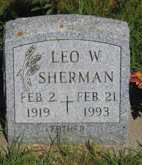 SHERMAN, LEO W. - Kingsbury County, South Dakota   LEO W. SHERMAN - South Dakota Gravestone Photos